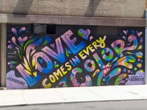 Grafiti en Nueva York - Love Comes in every color